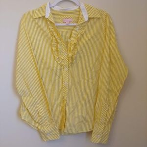 Lilly Pulitzer Jonni stripe button front shirt 10